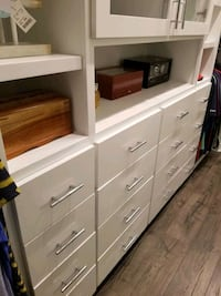 Custom white wooden 6-drawer dresser