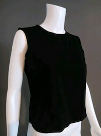***WOMEN'S PETITE SMALL BLACK DRESS TANK TOP!***