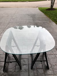 Glass table top oval 42x42x47x3/8 thick ! Like new, was used very little Virginia Beach, 23454