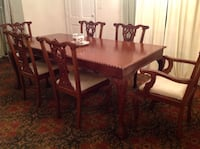 rectangular brown wooden table with six chairs dining set 1211 mi