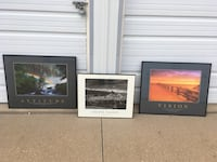 Three assorted pictures  with frame Marion, 52302