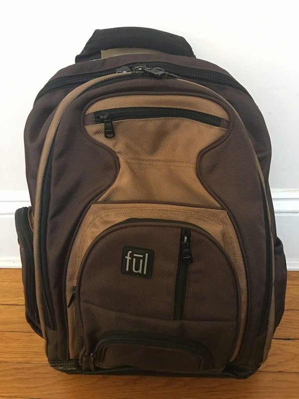 Ful Free Fallin' Padded 18 in. Laptop Backpack (brown) in fantastic condition