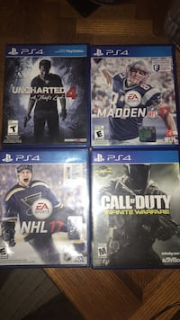 four Sony PS4 game cases Halifax, B3M 4K1