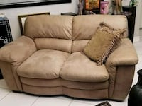brown fabric 2-seat sofa Miami, 33155