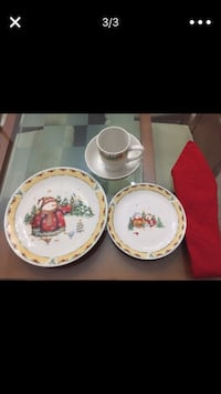 Christmas dish set 8 place