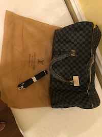Black/grey Designer Duffle bag LV checkered NEW Woodbridge, 22193