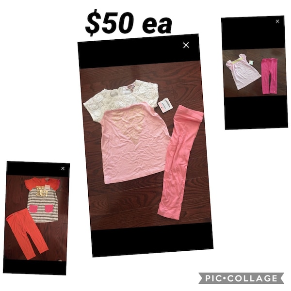 Juicy couture girls outfits sz 2/3 nwt retail $125/ outfit only $50ea