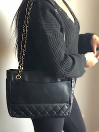 Authentic Vintage Chanel Lambskin Tote $1295  Toronto, M3J