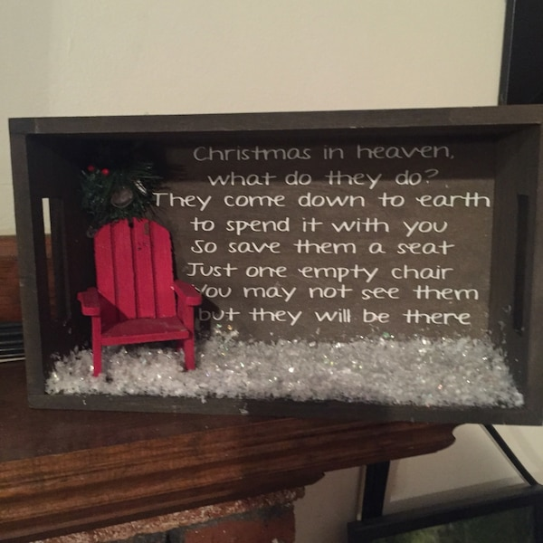 Christmas In Heaven Chair.Christmas In Heaven Shadow Box