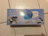12 volts blue and white portable high-power vacuum cleaner box