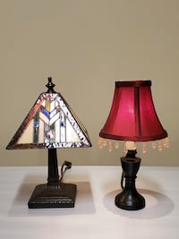 TWO (2) Small Table Lamps