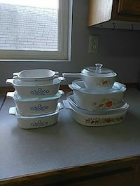 set of 2 floral container bowls