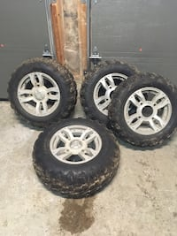 "14"" 4wheeler rims and tires from a 2009 Polaris 550xp Barrie, L4N 0S2"