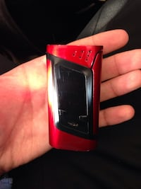 Black and red SMOK Alien kit box mod