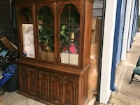 Antique China Cabinet framed/glass Montgomery, 77356