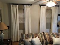 "NEW, Custom Made drapes, Cream color, 2 sets ceiling to floor 93"" long,lined. BEST OFFER  Holbrook, 11741"