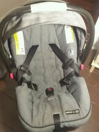 baby's gray and black car seat carrier Dover
