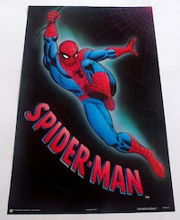 SPIDERMAN POSTER FROM 1989 MARVEL COMICS VINTAGE AND RARE! Toronto
