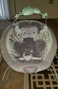 baby's gray and white cradle and swing Columbia, 21046