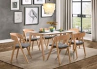 NEW [SPECIAL] Misa White/Natural Dining Set   Jessup, 20794