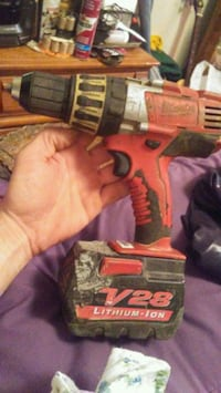 red and black Milwaukee cordless power drill Omaha, 68104