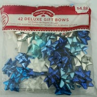 42 count blue silver bows $2.50 ea.  Middleburg, 32068