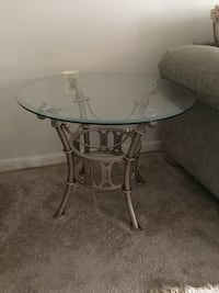 Sofa side glass tables with metal base Annandale, 22003
