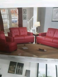 red fabric sofa set with throw pillows 44 km