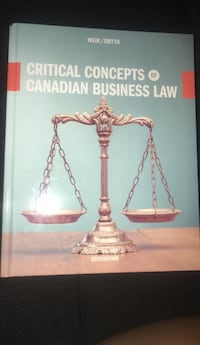 Critical concepts of Canadian business law sixth edition Toronto, M3L 1Y7