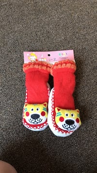 toddler's red-and-yellow socks Frederick, 21702