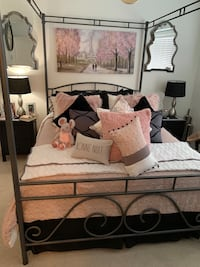 Gorgeous Wrought Iron Queen Size Bed Frame