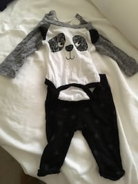 Newborn outfit - panda print Falls Church
