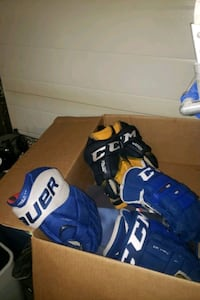 "Gloves hockey CCM Bauer 14"" blue"