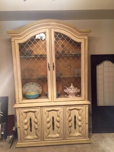 Antique China Cabinet, 1950's vintage style