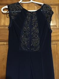 Navy color  beautiful dress worn once size 10 Edmonton, T6V 1P3