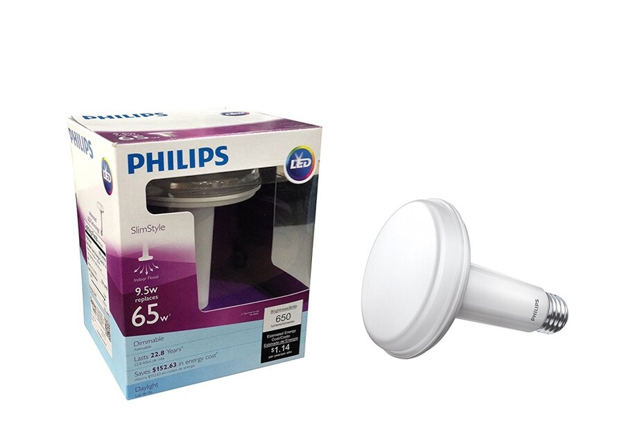 Philips 65 Watt Equivalent Slim Style BR30 LED Dimmable Daylight Light Bulb