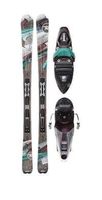 Rossignol Attraxion 8 skis with bindings + ski poles