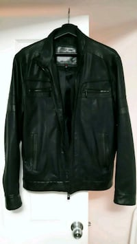 black leather zip-up jacket New Westminster