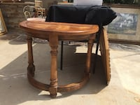 round brown wooden side table Costa Mesa, 92626