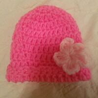 New born size baby girl hat  Caledonia County, 05851