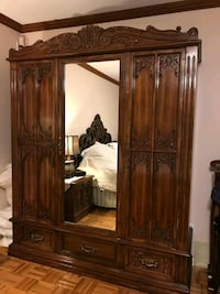 brown wooden cabinet with mirror Laval, H7E 1W8