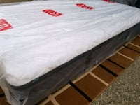 Queen mattress europillowtop delivery available  Edmonton, T5Y 1H9
