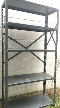 Storage shelf / heavy steel. Size is 36 x 13 x 72 tall Columbus