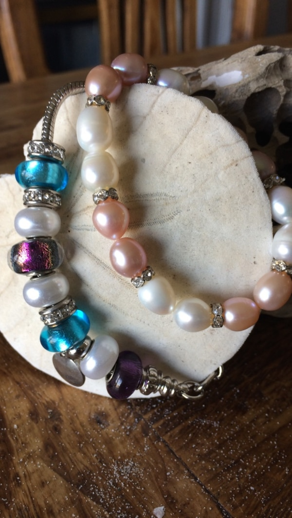 assorted bead bracelets 0