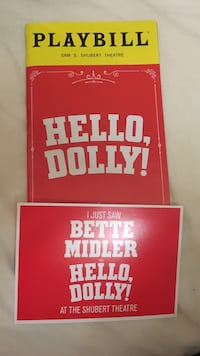 Broadway Hello Dolly playbill and post card Bette Midler  West Palm Beach