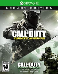 Call of duty infinite warfare & modern warfare Xbox one