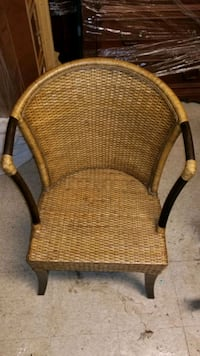 Wicker and bamboo chair
