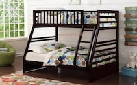 cherry,white or java twin/full bunk bed on SALE*** Essex