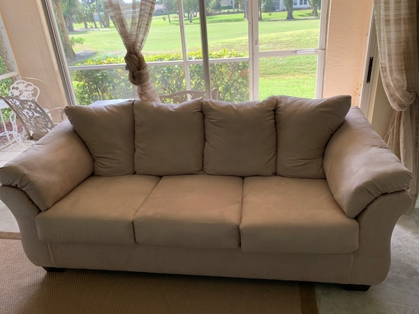 Used Sand Colored Soft Fabric Like New Ashley Signature Couch For In Naples Letgo
