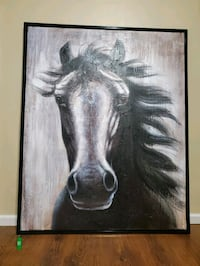 *Willing to trade **Large original authentic oil painting of a horse** Abbotsford, V2S 3X5
